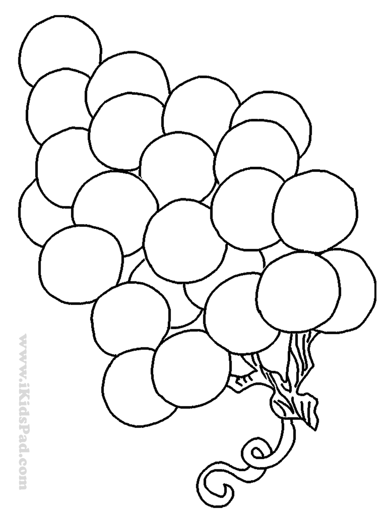 grape coloring pages - photo#24