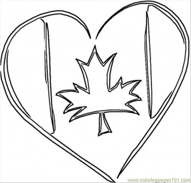 flag coloring pages canada - photo#30