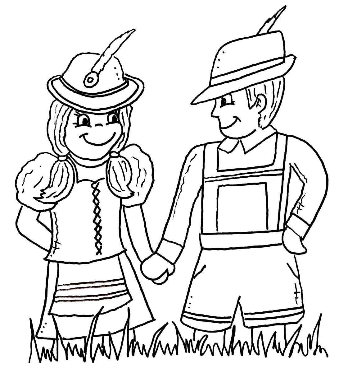 bavarian coloring pages - photo#4