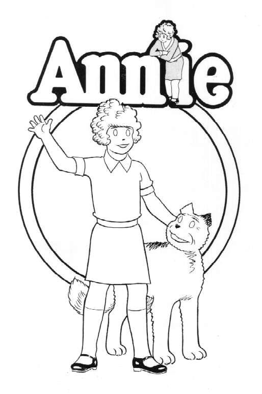 Annie Coloring Pages Little Orphan Annie Coloring
