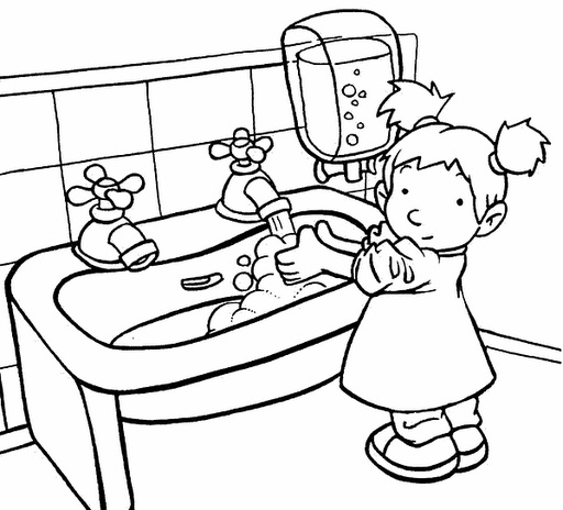 coloring pages hand washing - photo#27