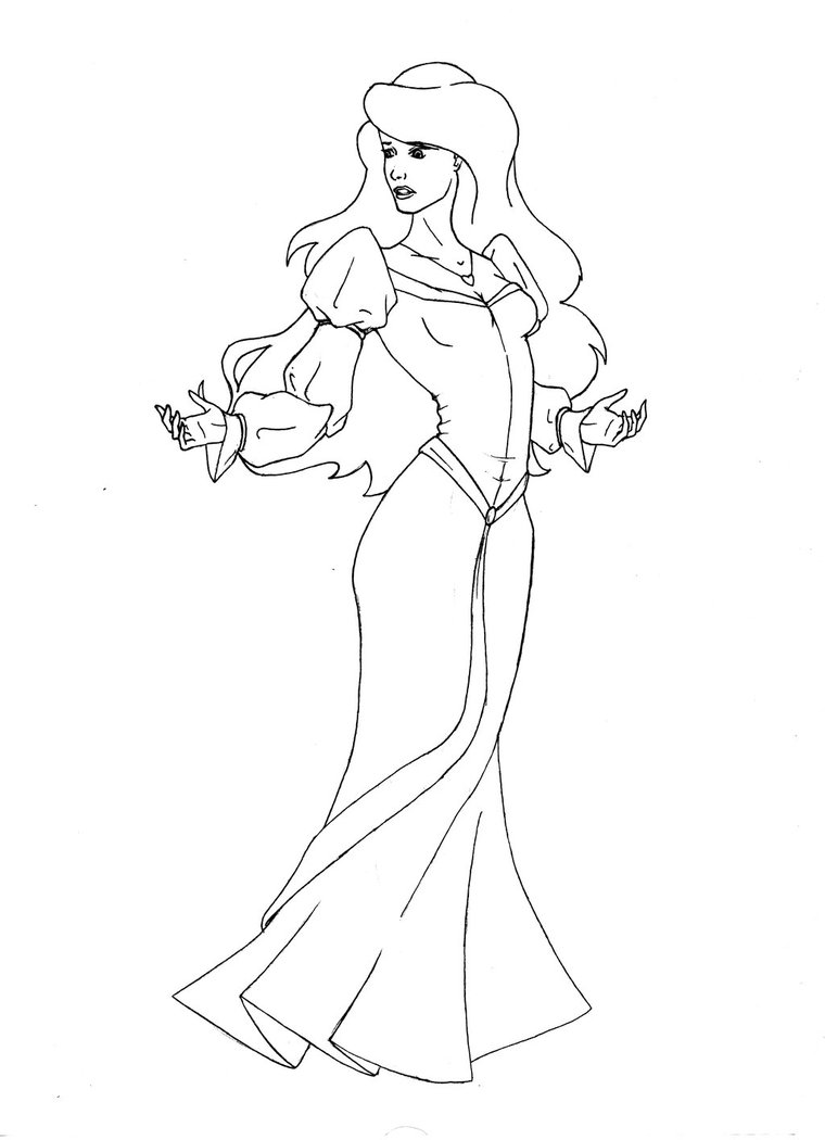 swan princess coloring pages free - photo#1