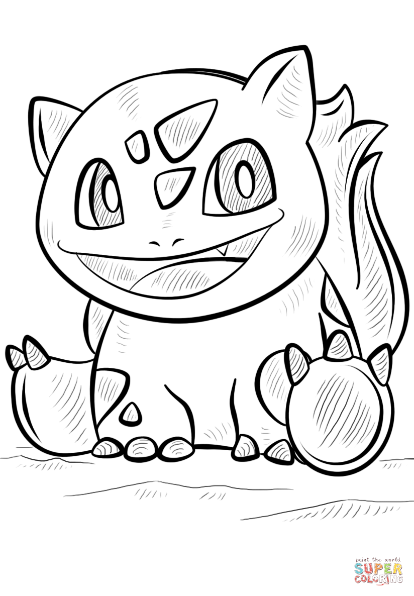 Bulbasaur Coloring Page Coloring Home