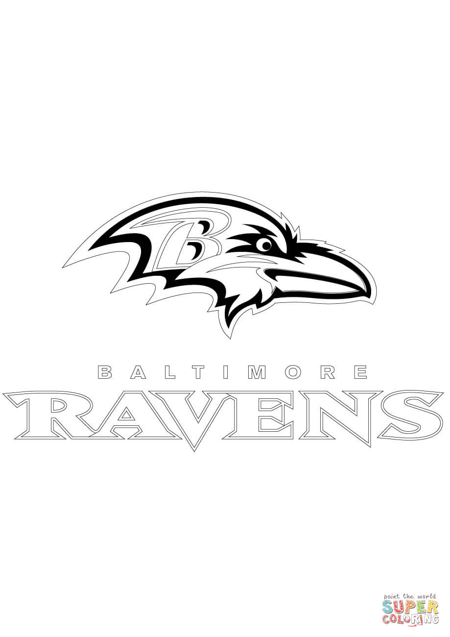 baltimore ravens coloring page free printable coloring pages