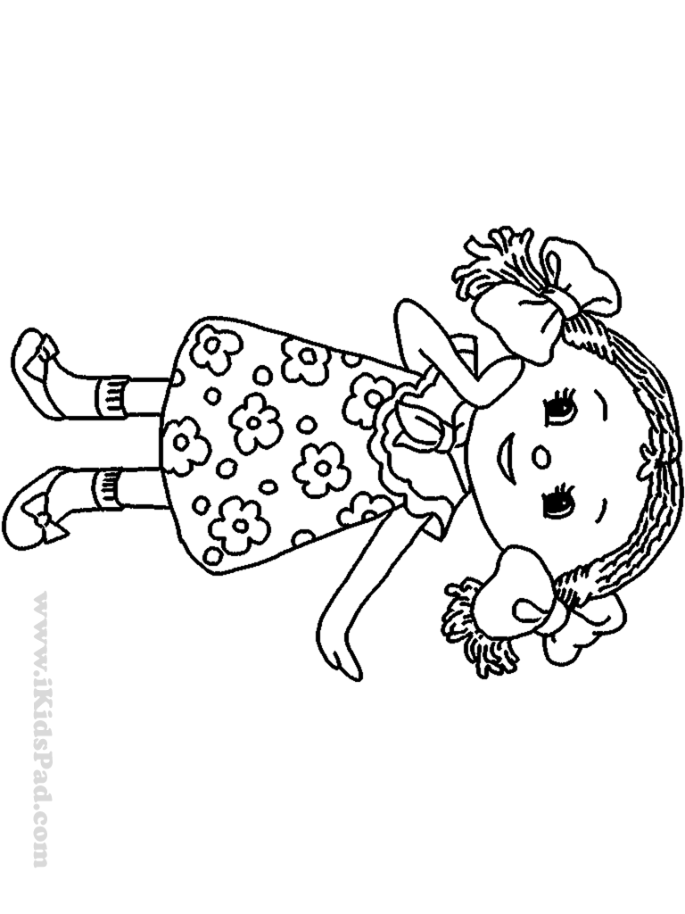 coloring pages of dolls - photo#16