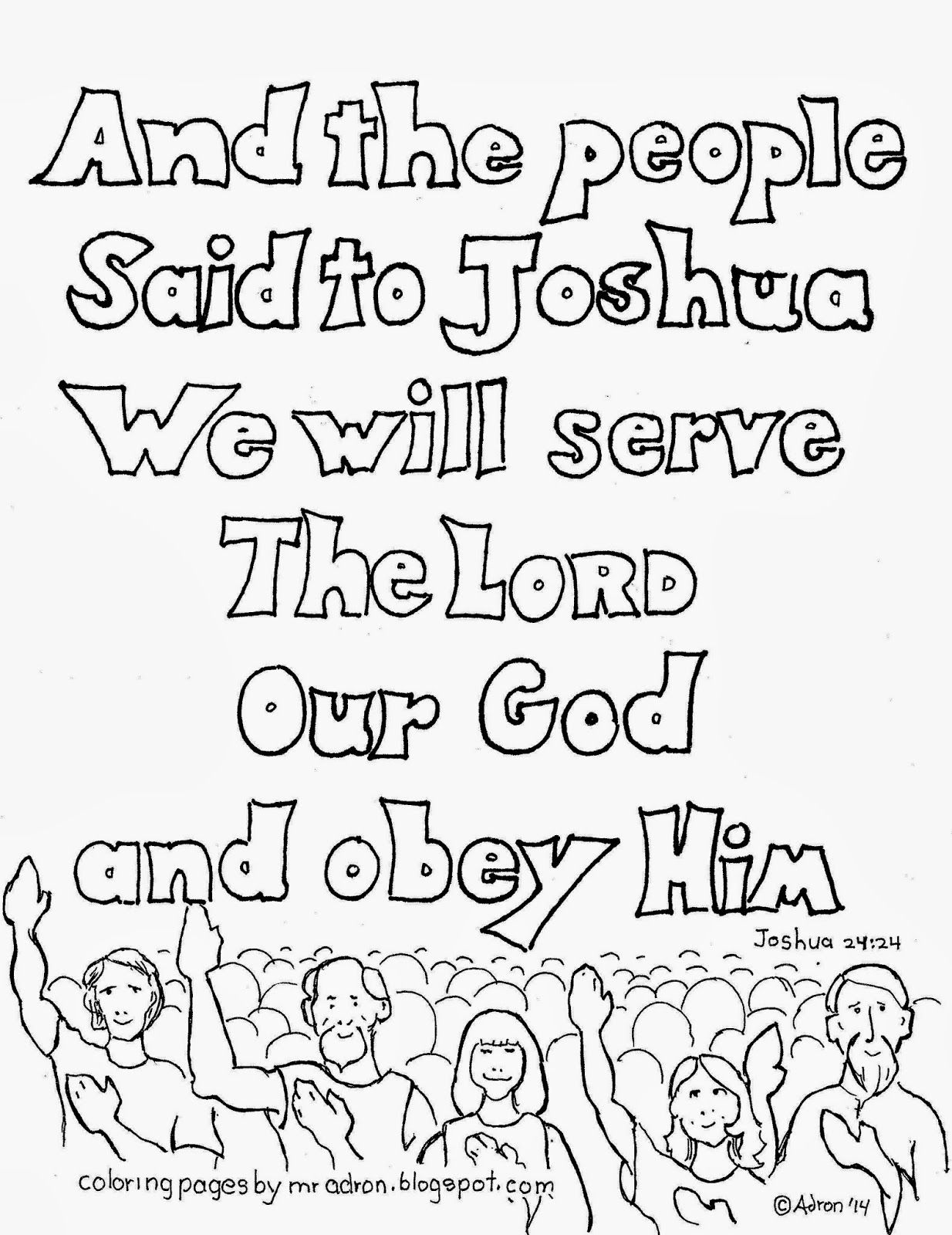 Coloring Pages For Joshua : Joshua coloring page home