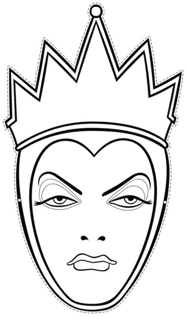 Princess Face Coloring Pages