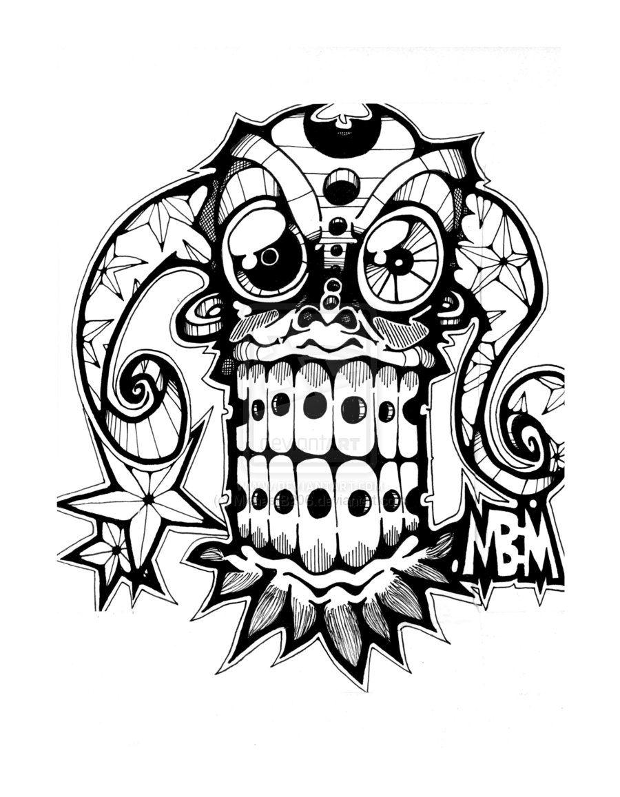 Tiki Mask Coloring Page AZ Coloring