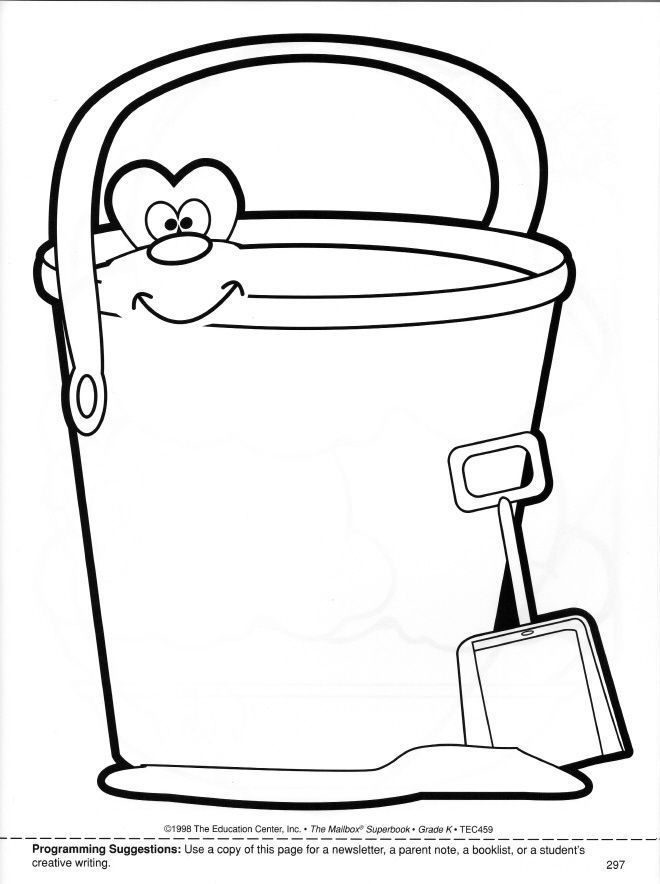 bucket fillers coloring page coloring home