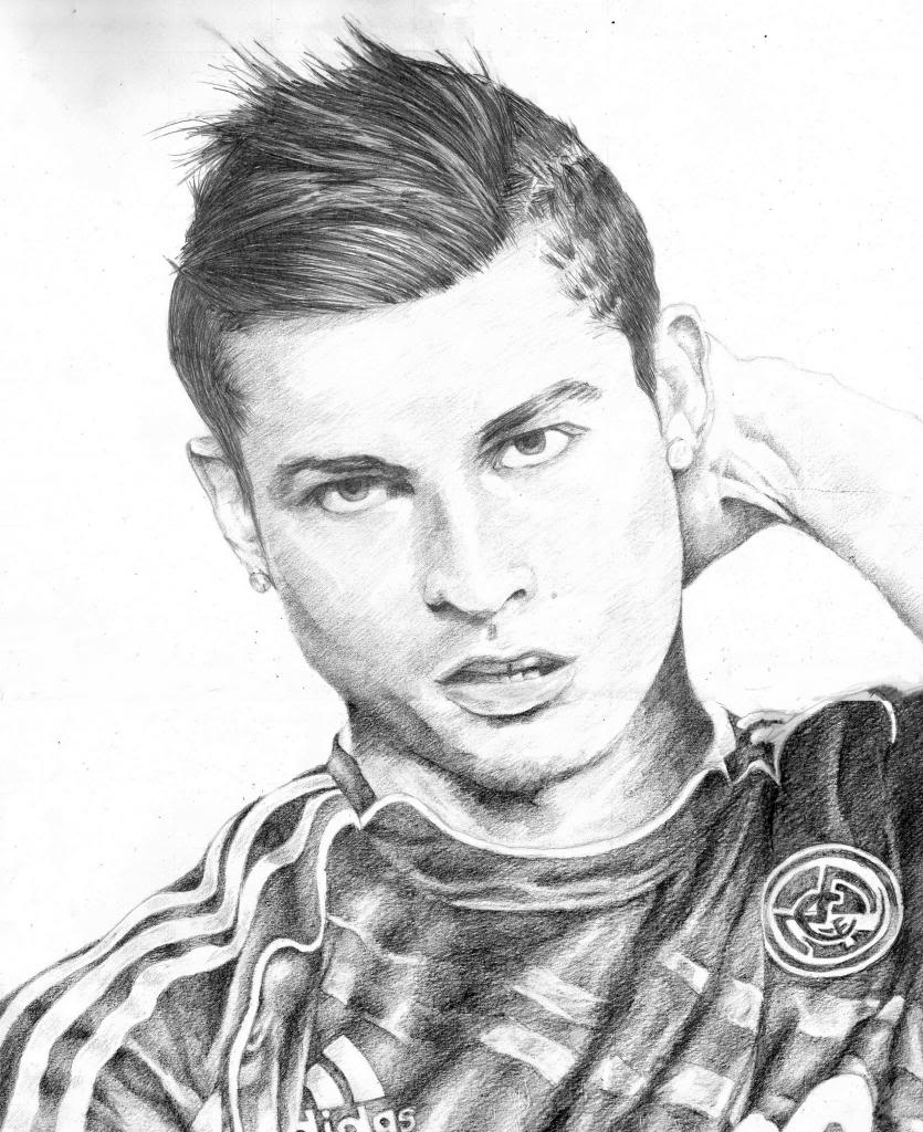 Christiano Ronaldo Coloring Pages