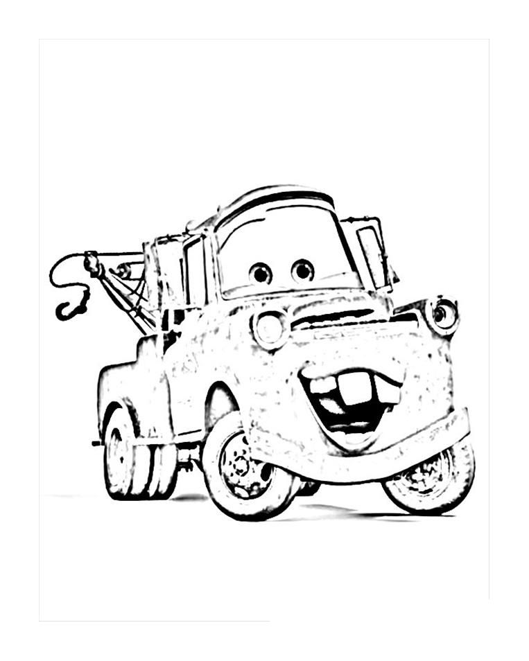 Tow Mater Coloring Pages Free Coloring Home