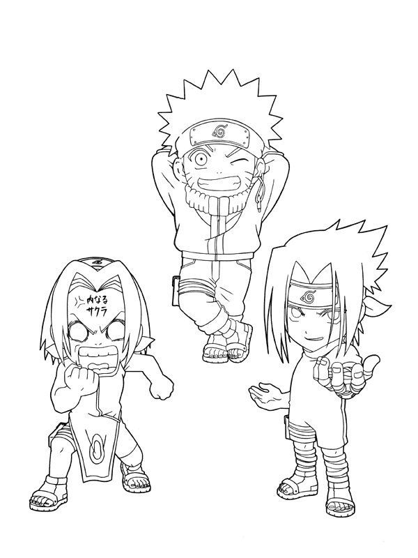 Printable Naruto Coloring Pages