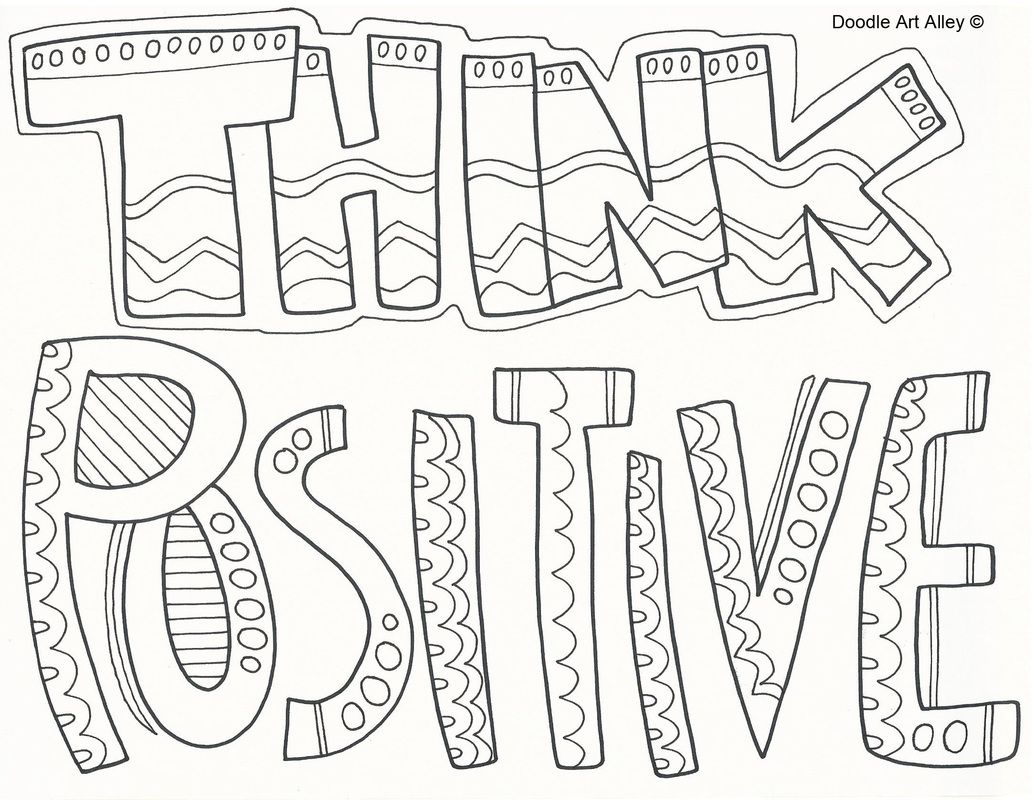 Positive Thinking Coloring Pages Coloring Pages