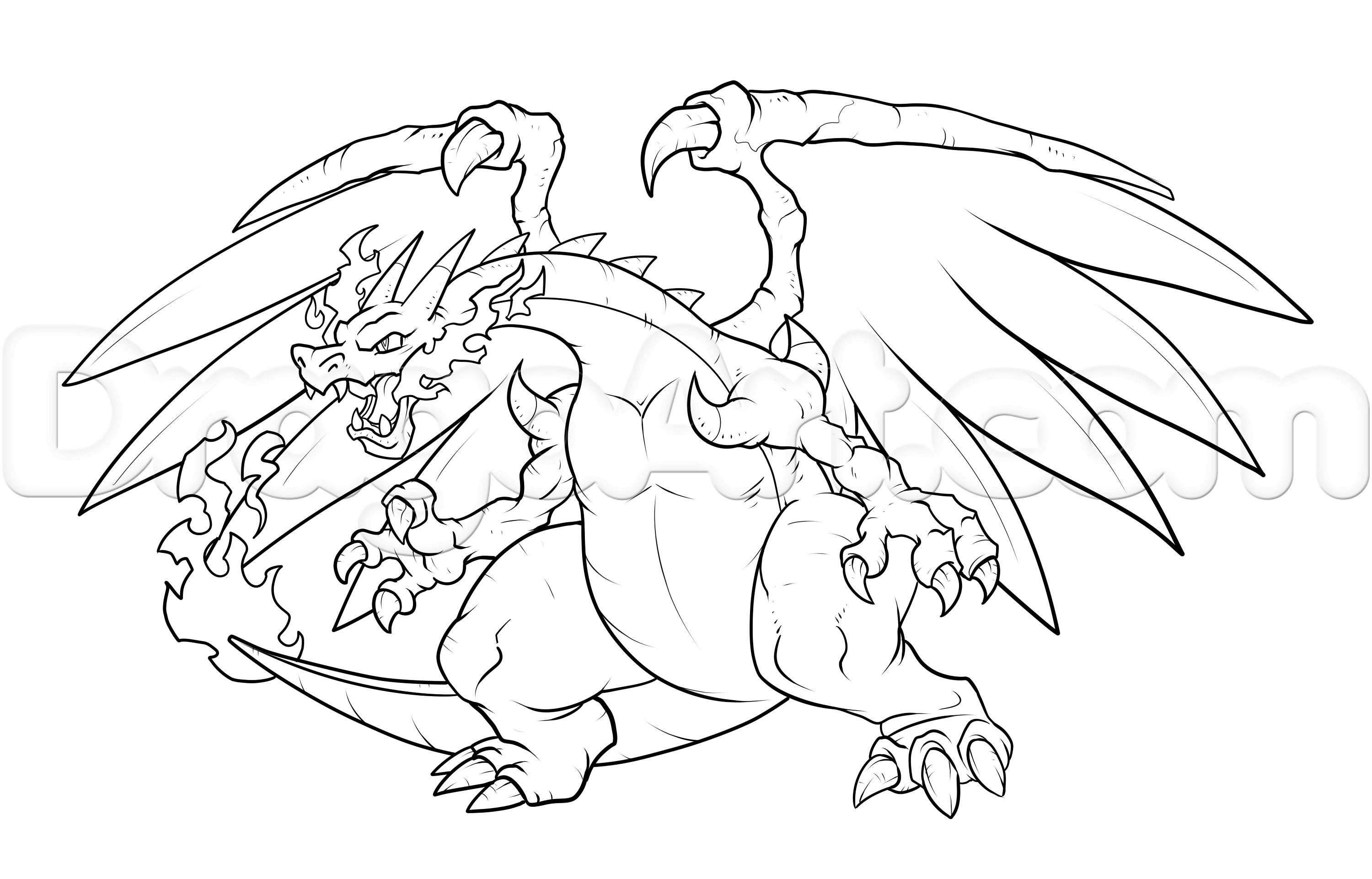 Pokemon Coloring Pages Mega Charizard Ex - Coloring Page