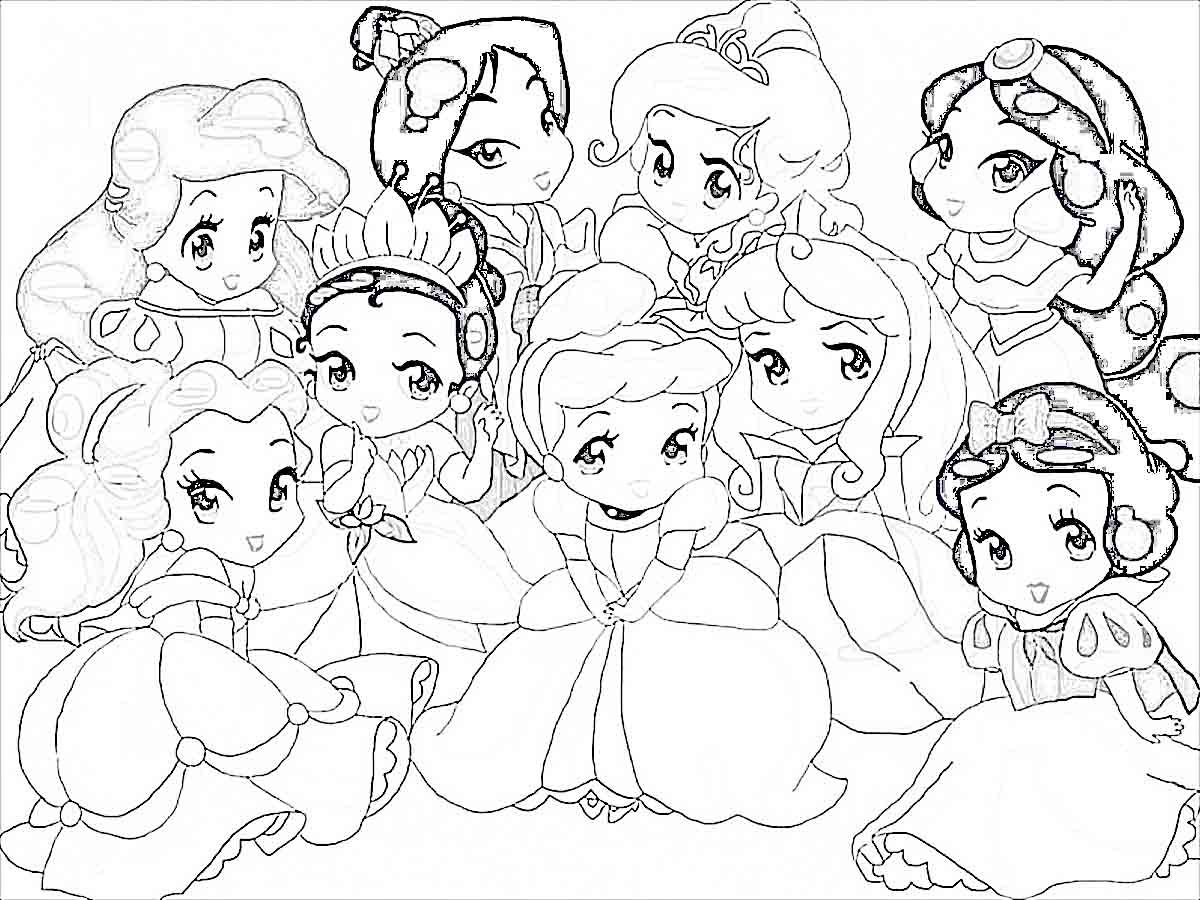 Disney Princesses Cartoon Coloring Pages | Coloring Online