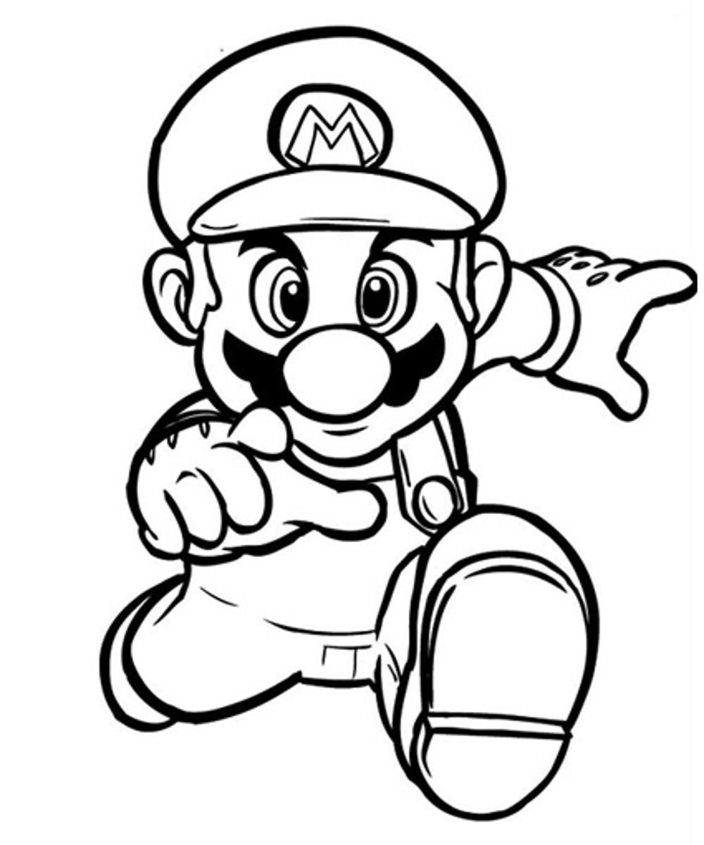Mario Printable Coloring Pages Free - Coloring Home