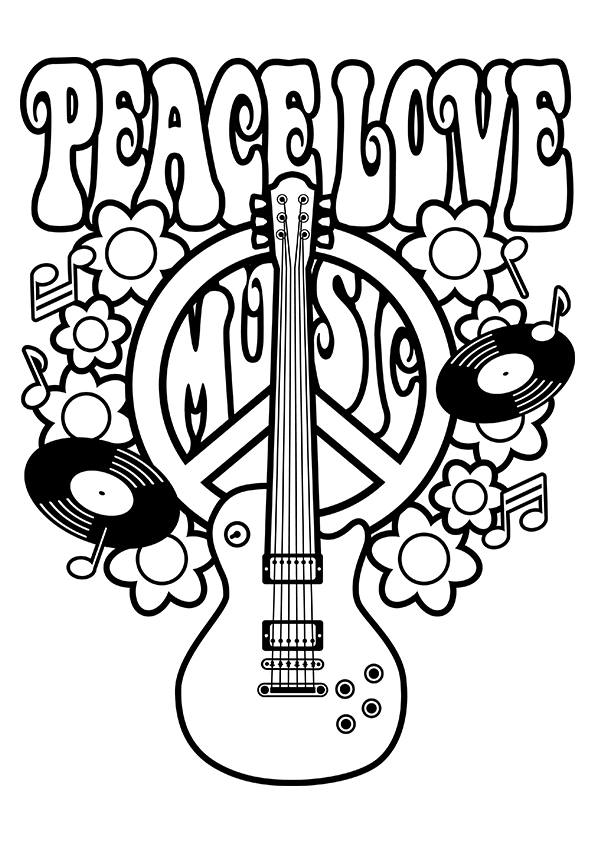 peace sign coloring pages printable - world peace coloring pages az coloring pages