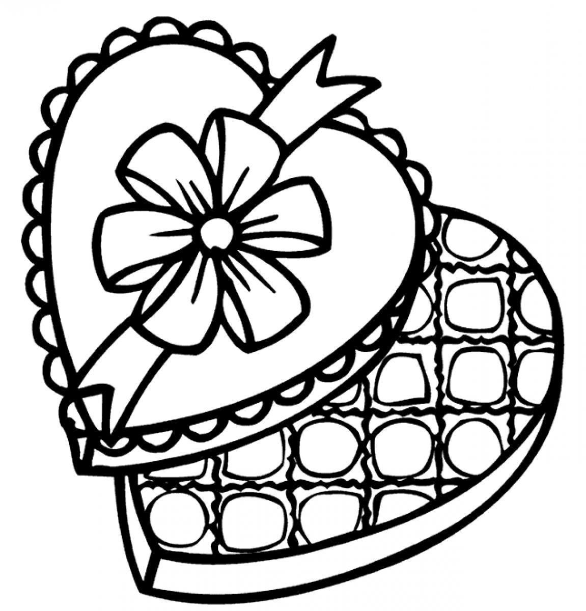 Chocolate Coloring Page - Coloring Home