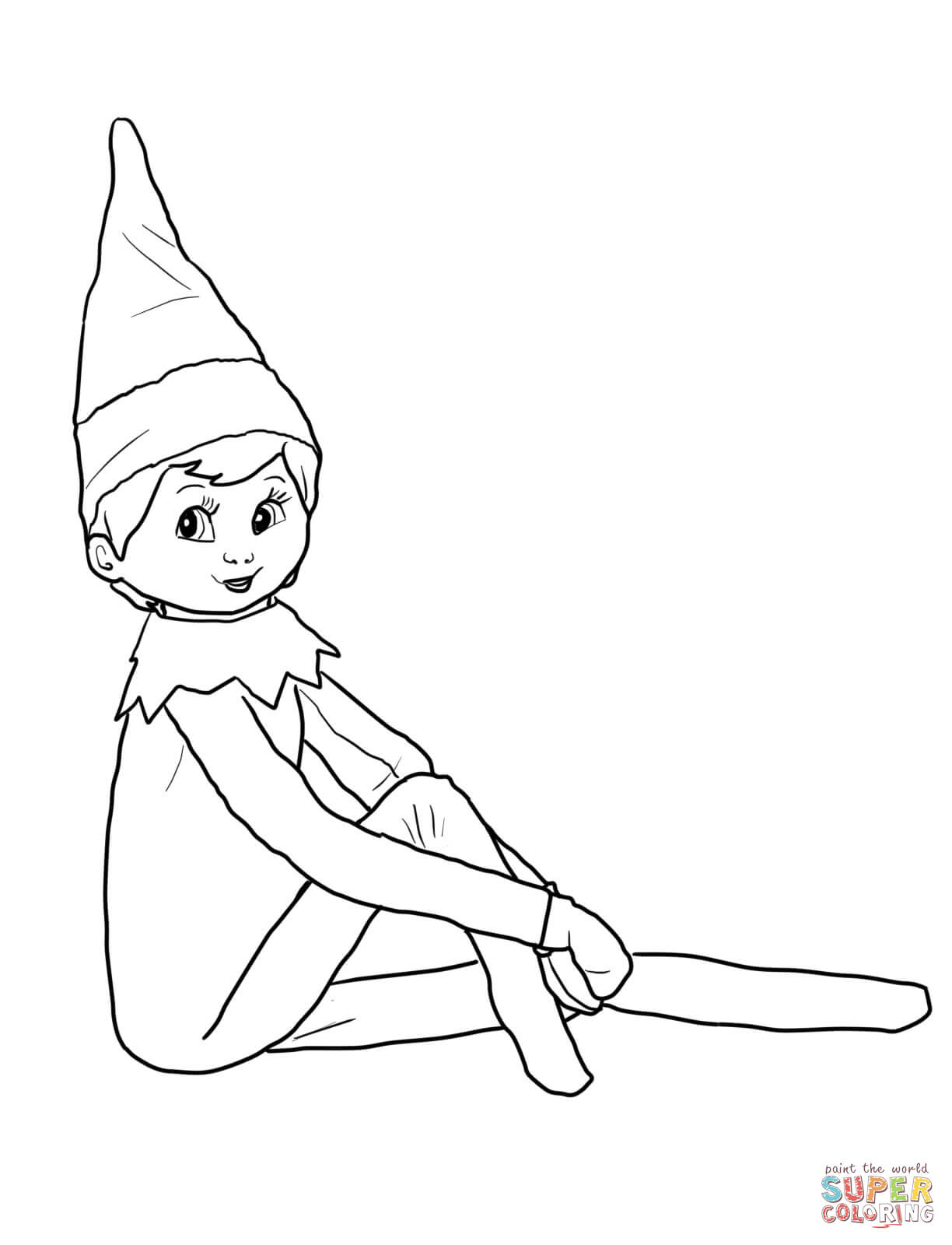Elf Coloring Pages Printable