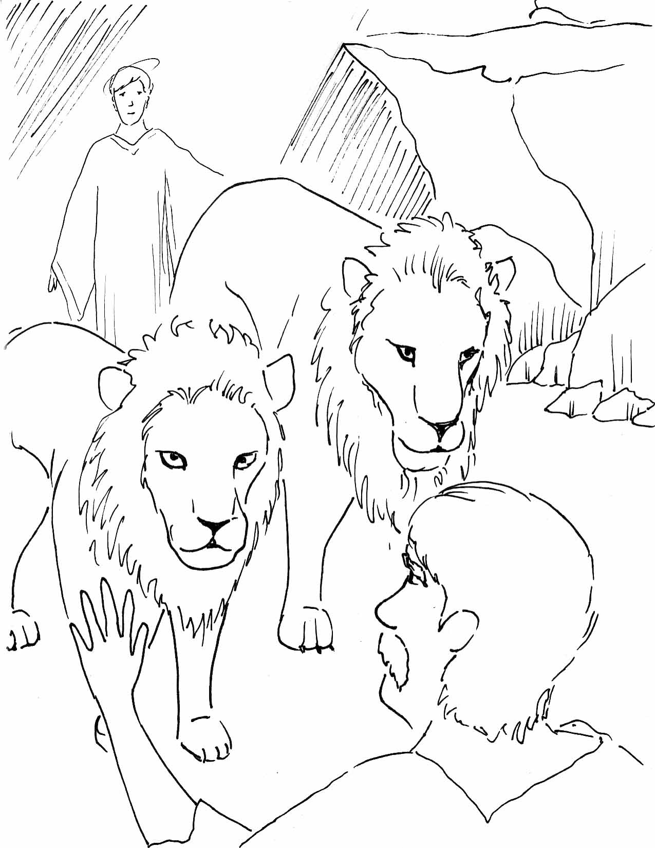 Daniel In The Lion Den Coloring Pages - Coloring Home