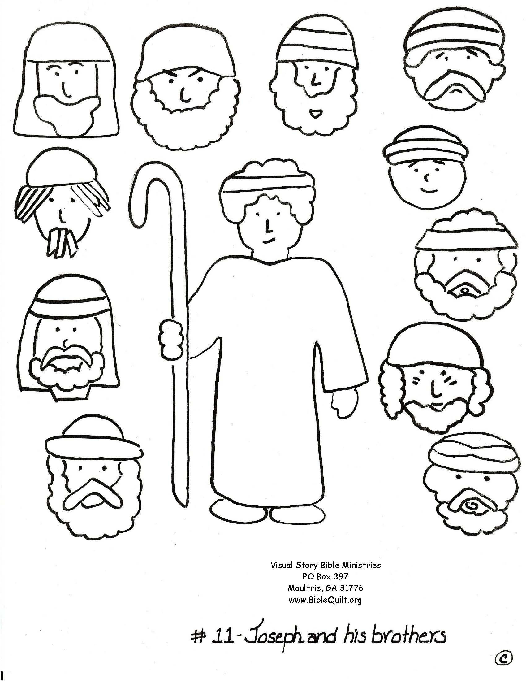 Best Photos of Joseph And His Brothers Coloring Page - Bible ...