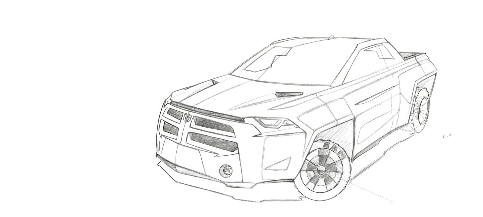 Dodge Ram Coloring Page - Coloring Home