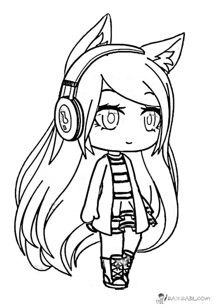 - Gacha Life Coloring Pages - Coloring Home