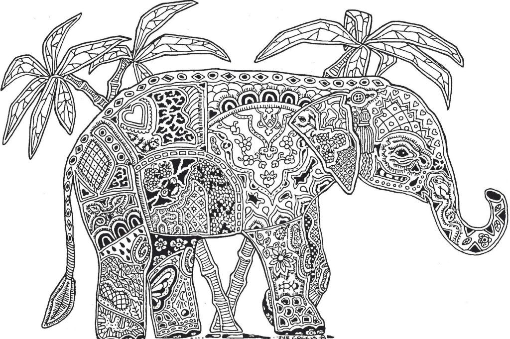 Adult Coloring Page: Don't Forget To Share Difficult Animals ...