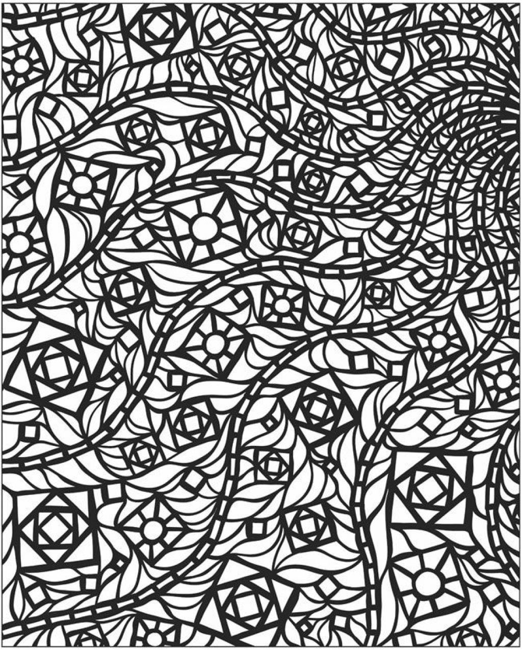 Mosaic Patterns Coloring Pages Coloring Home