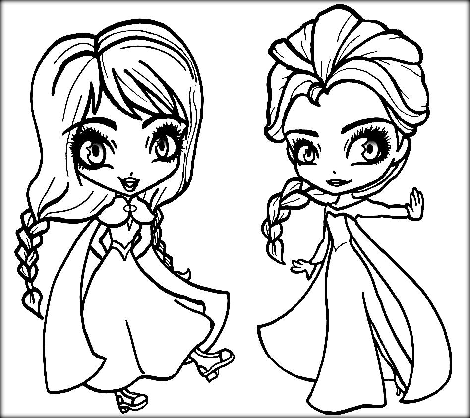 Disney Frozen Coloring Pages Anna And Elsa - Coloring Home