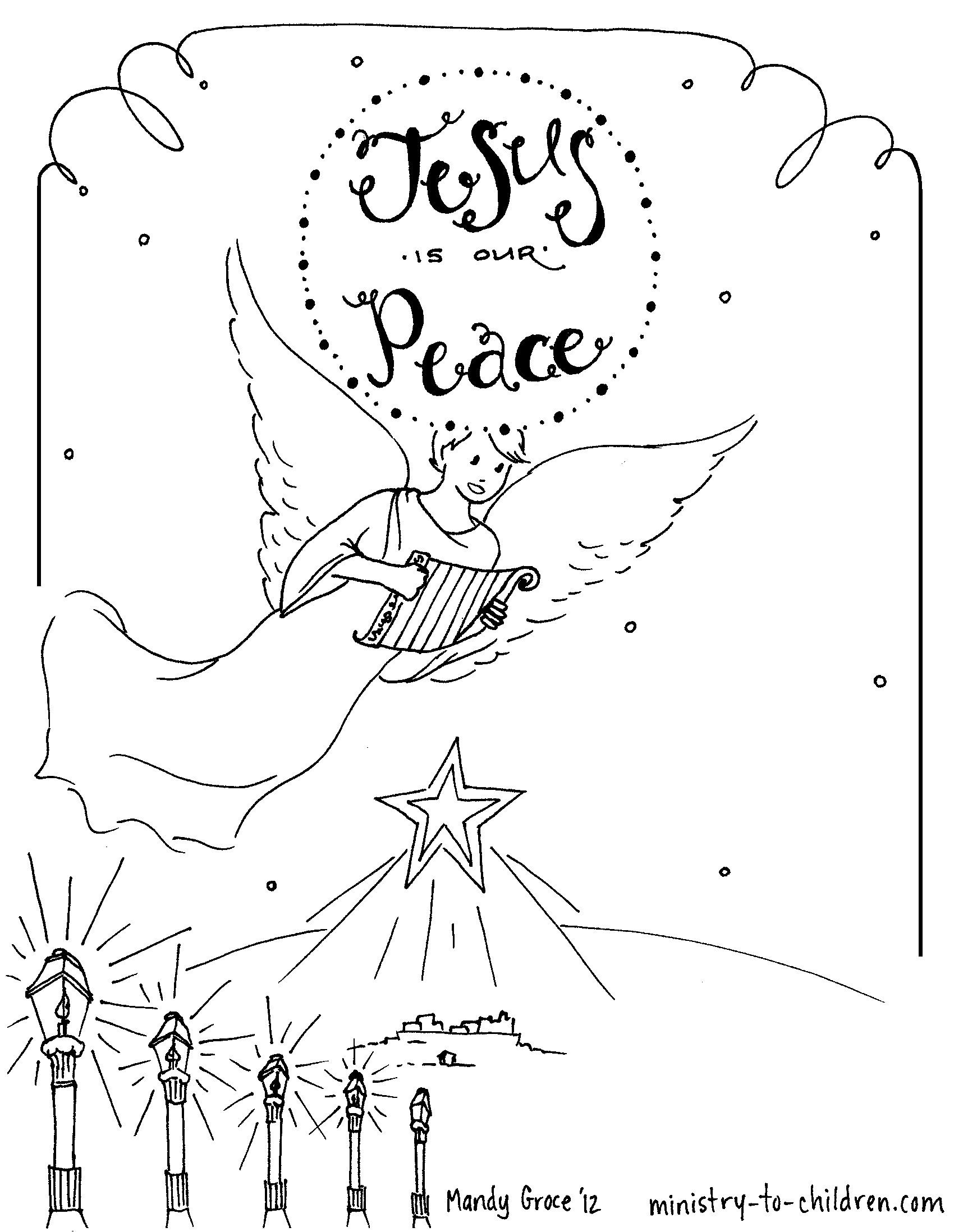 Advent Coloring Pages Free Printable - Coloring Home