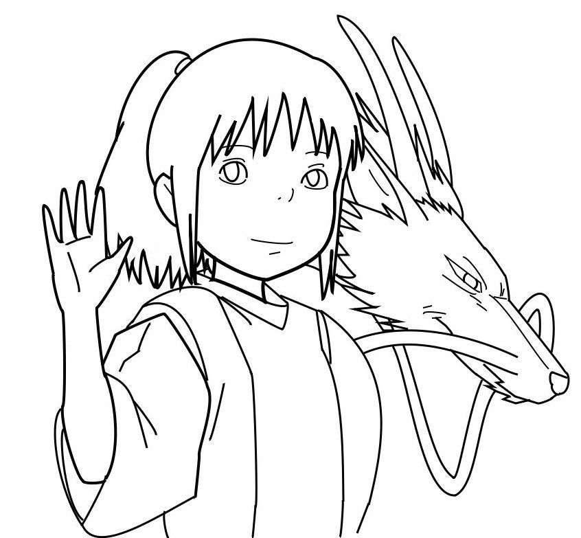 Ponyo coloring pages sketch coloring page - Coloriage ponyo ...