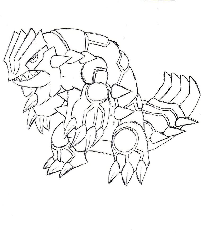 pokemon groudon ex coloring pages - photo#13