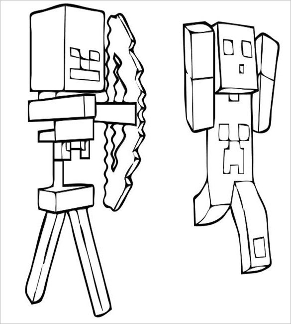 Minecraft Coloring Pages Pdf : Minecraft color page az coloring pages