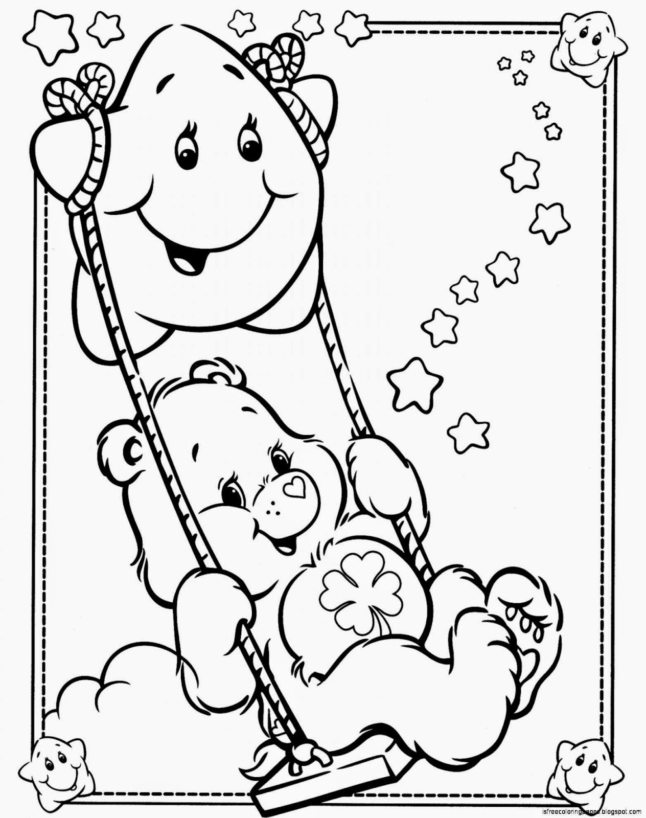 care bear coloring pages with numbers | Magic Roundabout Coloring Pages - Coloring Home