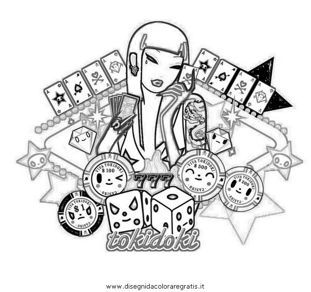 Tokidoki Coloring Pages Coloring