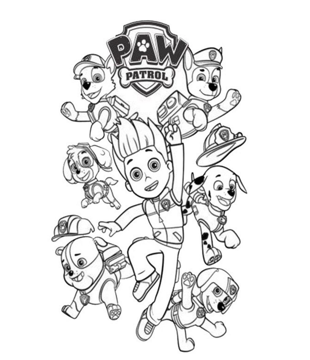Paw patrol coloring pages coloring home - Coloriage prin ...