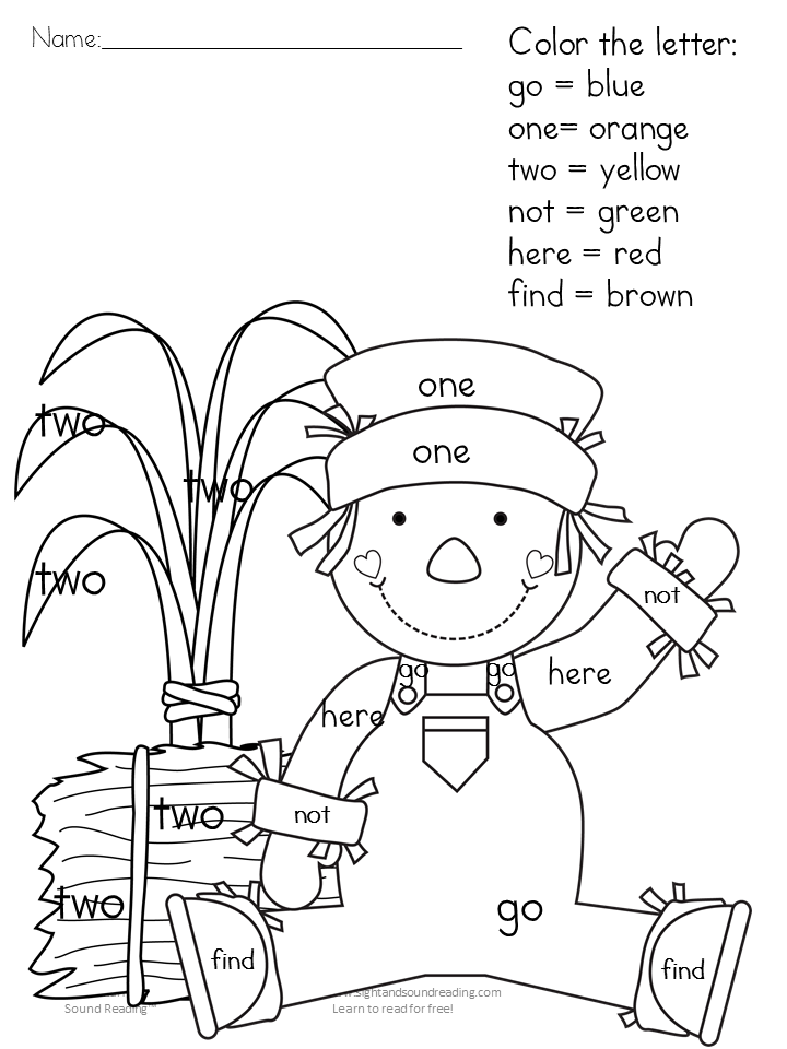 printable fall coloring pages color by letter sight word coloring home. Black Bedroom Furniture Sets. Home Design Ideas