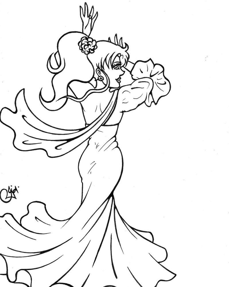 Spanish Dancer Coloring Page - Coloring Home