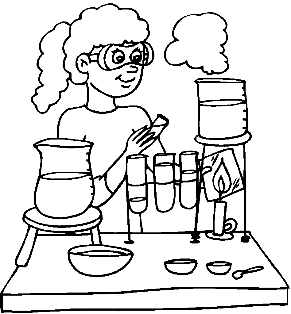 Line Drawing Rules Chemistry : Science lab coloring pages home