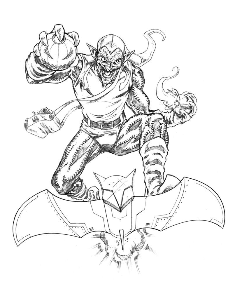 coloring pages green goblin - photo#1