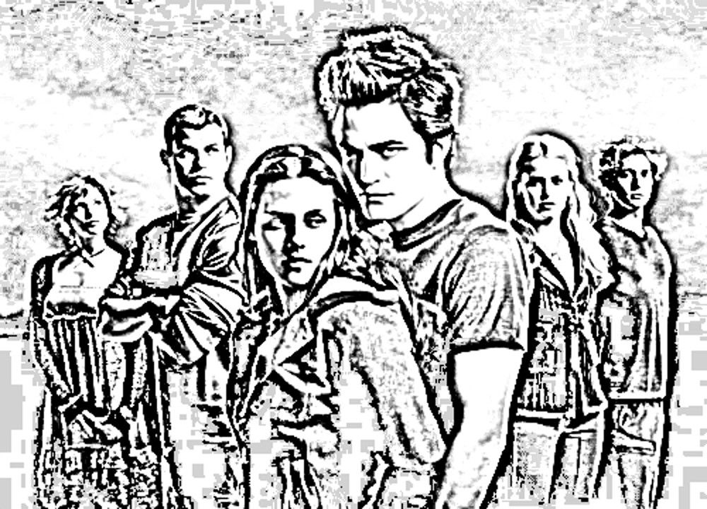 twilight the movie coloring pages - photo#49