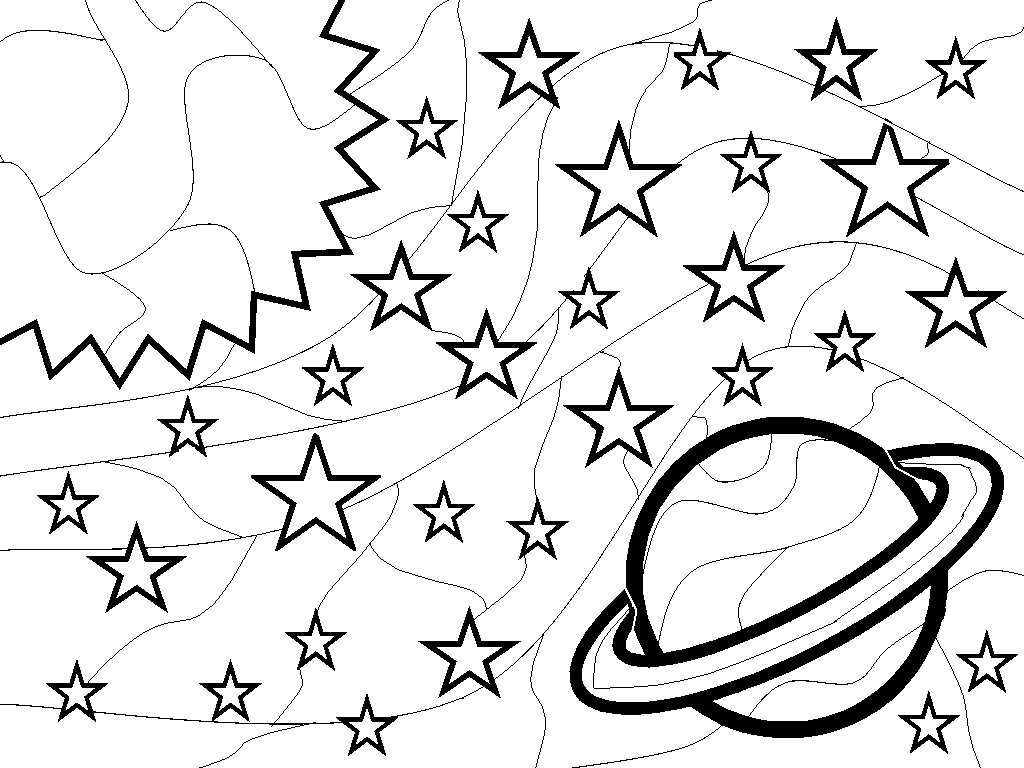 Outer Space Coloring Pages Coloring