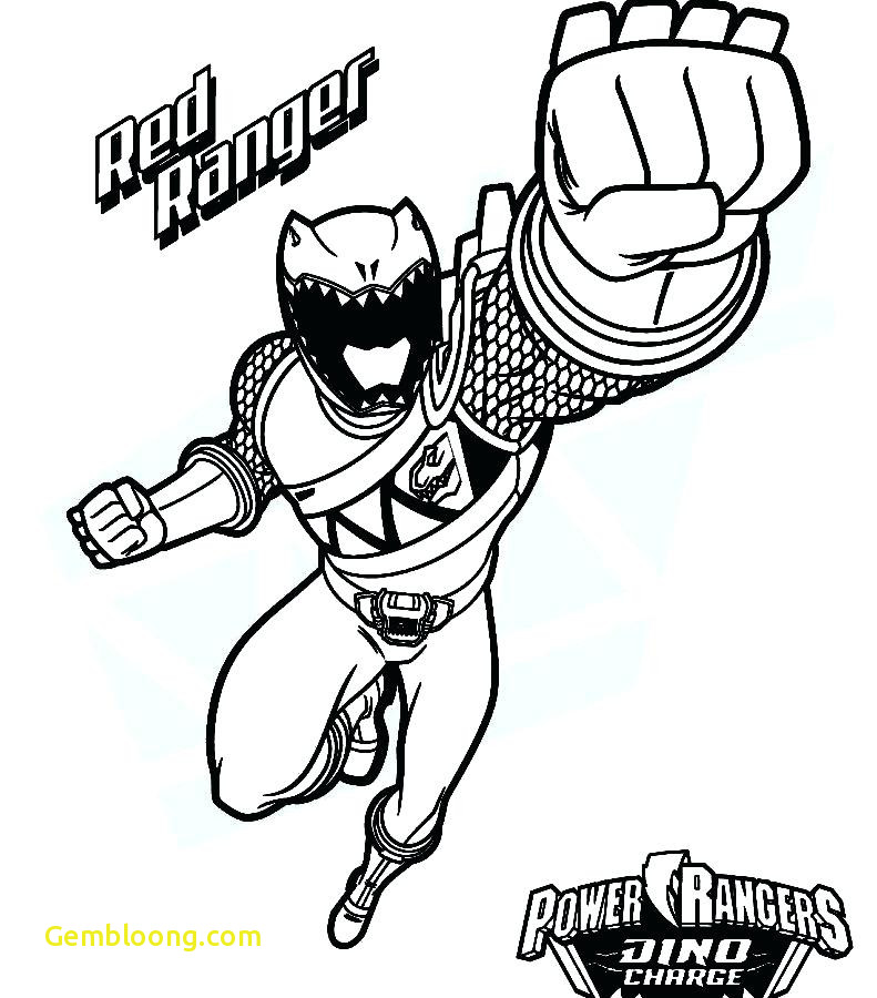 Red Ranger Coloring Page Www.robertdee.org