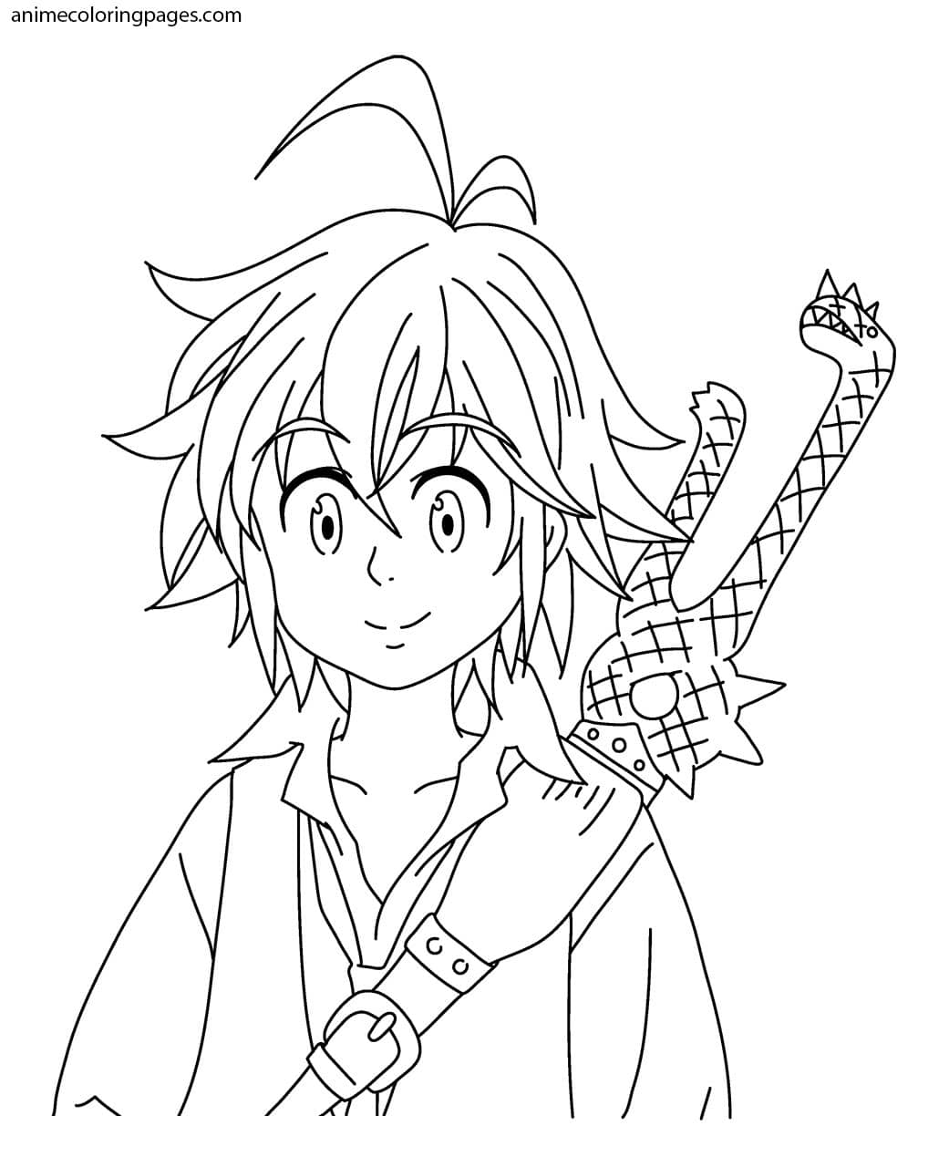 Meliodas Coloring Pages - Free Printable Coloring Pages for Kids