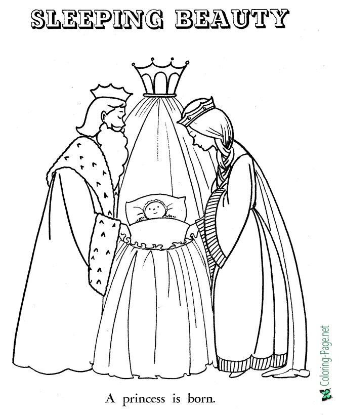 Fairy Tales - Sleeping Beauty Coloring Pages
