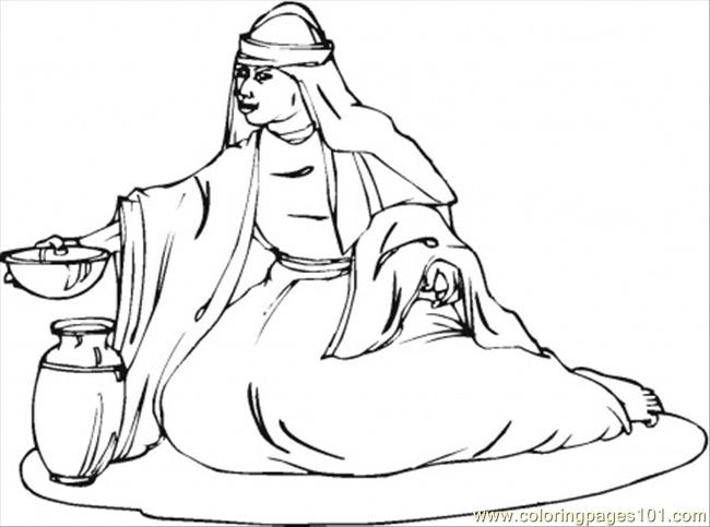 Deborah Prophetess And Judge Of Israel Coloring Page - Free Religions Coloring  Pages : ColoringPages101.com