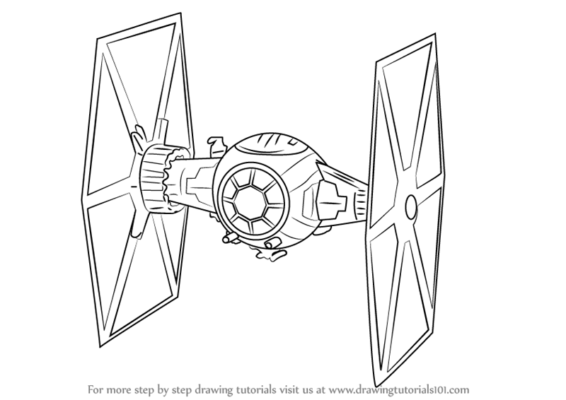 Learn How to Draw TIE Fighter from Star Wars - The Force Awakens (Star  Wars: The Force Awakens) Step by Step : Drawing Tutorials