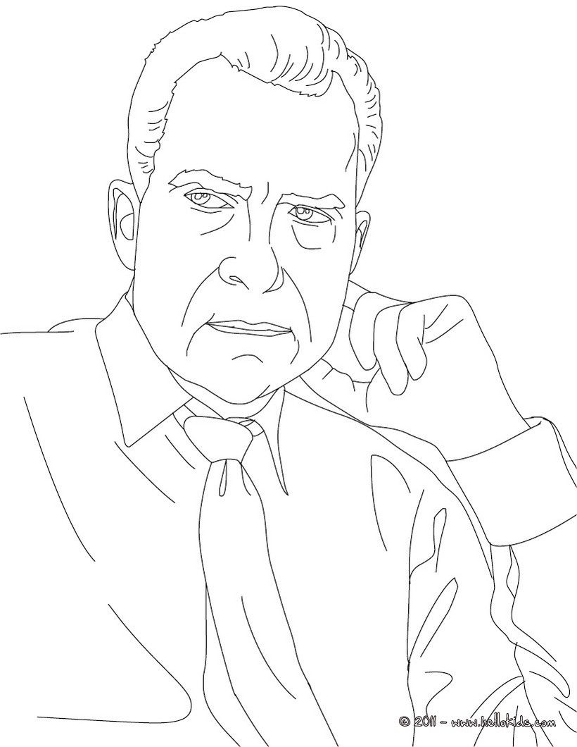 all 44 presidents coloring pages - photo#42