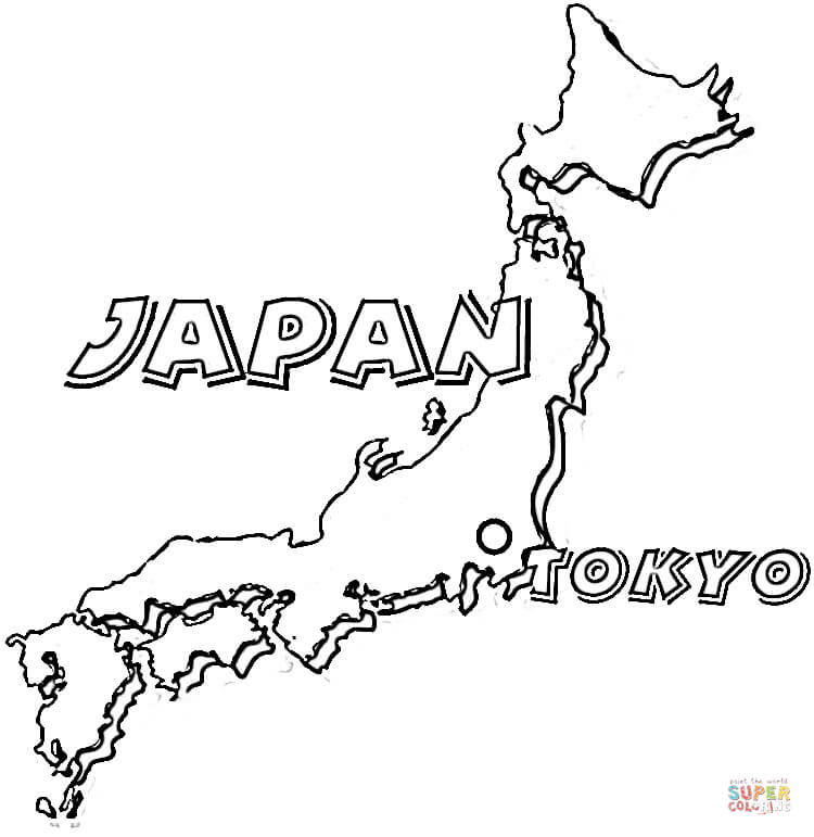 Map Of Japan Coloring Page Free Printable Coloring Pages